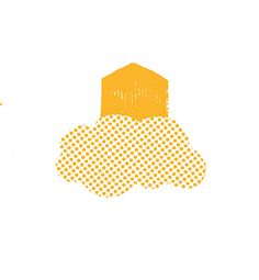 Ilaria Demonti on Behance #illustration #house #dream #travel #cloud