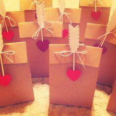 Valentine's Day treat bags.