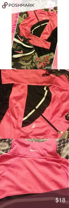 Nike zip up jacket Pink and black size small Nike zip up. Great condition, only worn a few times. Nike Tops Sweatshirts & Hoodies