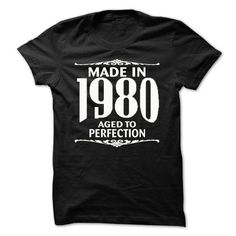 Made in 1980. Aged To perfection @ - #sweater hoodie #sweatshirt print. LOWEST PRICE => https://www.sunfrog.com/LifeStyle/Made-in-1980-Aged-To-perfection--22833014-Guys.html?68278