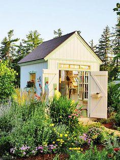 I want a little potting shed.