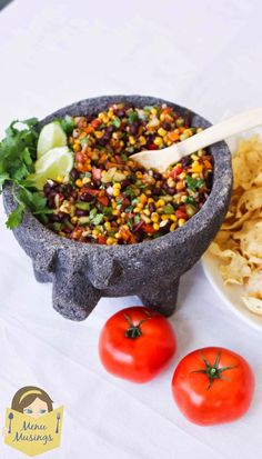 Menu Musings of a Modern American Mom: Black Bean and Corn Salsa