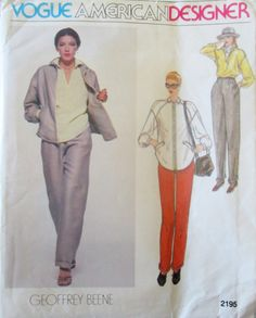 Vogue American Designer 2195 Geoffrey Beene Jacket by Denisecraft, $12.99