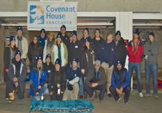 Tonight executives, public figures and well-connected leaders in our community will sleep outside for one night in solidarity with those youth who may face many more cold, lonely nights until they find their way through the doors of Covenant House Vancouver. #CHSleepOut