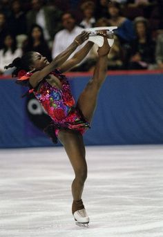 Surya Bonaly wins '90s ice fashion hands down. | The 30 Most Fantastic Ice Skating Outfits Of The '90s
