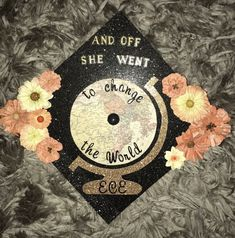 Inspired by 3 different caps! Great way to have a teacher inspired cap without looking like everyone else at graduation!