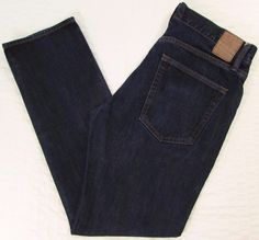 Men Gap 1969 Slim Jeans Resin Dark Wash Mid Rise 100% Cotton sz 32 X 29.5 #GAP #RelaxedSlim