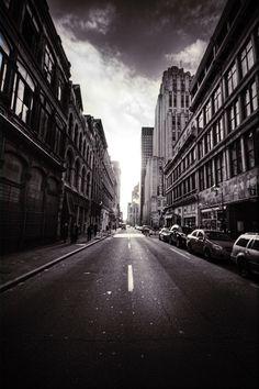 walking on a city street
