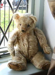 ~ Norton ~ Rare old Farnell Vintage long mohair Teddy 1920'or 1930's ......