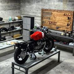 Moto Guzzi in the #garage #workshop discover #motomood