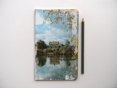 reflecting  - printed moleskine cahier, travel journal, personal diary, cool book. $25.00, via Etsy.