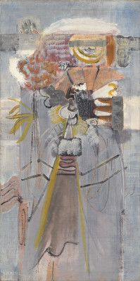 Mark Rothko Archaic Phantasy 1945 oil on canvas overall: 123.1 x 61.4 cm (48 7/16 x 24 3/16 in.) framed: 126.4 x 64.9 x 5.1 cm (49 3/4 x 25 9/16 x 2 in.) Gift of The Mark Rothko Foundation, Inc.