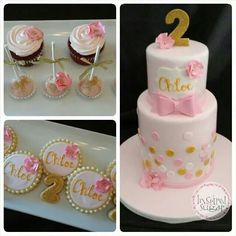 Pink N Gold Cake Ideas On Pinterest And