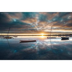 . 'Glass River' . Daybreak on the beautiful Barwon River Victoria. . . Prints and fine art canvas prints are available..... Email petejamesphoto@gmail.com for details and prices See all my work here... http://ift.tt/1H58jRw . http://ift.tt/1FEnBhv .  #photo #photography #pics #Seascape #picture #pictures #art #beautiful #bellarine #boats #surfcoast #sailboat #fineart #sea #sunrise #sunset #light #design #surf #nature #surfing #landscape #sailing #landscapephotography #river #ocean #storm…