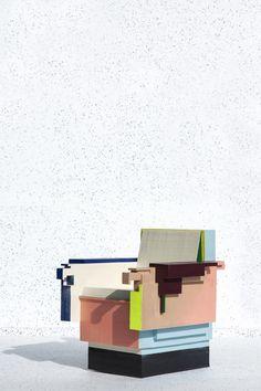 Dutch designer Tessa Koot is a biannual flirtation here at We Heart Towers: Milan Design Week/Dutch Design Week. Those familiar with the cyclic design international trade show … Memphis Furniture, Milan Furniture, Design Furniture, Chair Design, Cool Furniture, Crate Desk, Muebles Art Deco, Memphis Design, Take A Seat