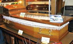 Wooden Caskets With Built-In AC Ensure a Cool Burial #coffins trendhunter.com