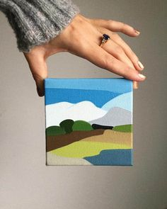 Rachael Cassiani creates abstract landscape paintings inspired by her local beaches.