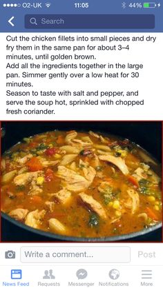 Cajun chicken soup - instructions