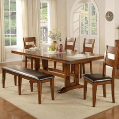 6 Piece Dining Set In Mango