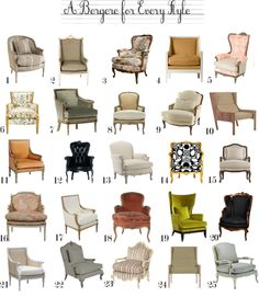 A Bergere For Every Style | www.theanatomyofdesign.com