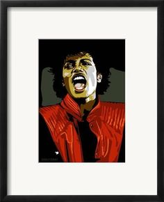 a34ac8c2b4 Framed Art Print  Michael Jackson - Thiller by Emily Gray   21x17in Stampe  Incorniciate