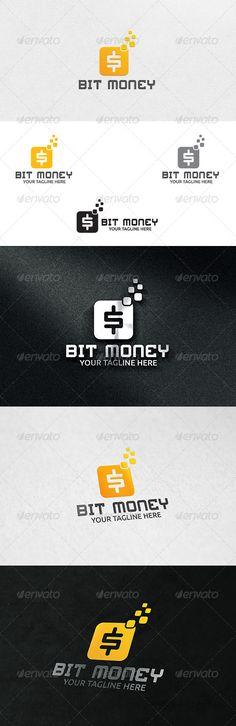 Bit Money  - Logo Design Template Vector #logotype Download it here: http://graphicriver.net/item/bit-money-logo-template/6328445?s_rank=738?ref=nexion