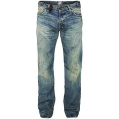 Prps Barracuda-P55p15x Isa-No Jeans (1.765 BRL) ❤ liked on Polyvore featuring jeans, men, pants, bottoms, button fly jeans, faded jeans, folded jeans, straight leg jeans and flap-pocket jeans