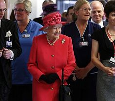 The Queen opens NHS Grampian Emergency Care Centre at the Aberdeen Royal Infirmary, October 1st 2013.