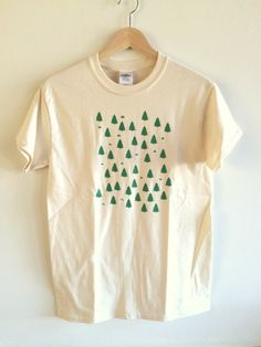 Forest Screen Printed T Shirt Tree Print by andMorgan on Etsy