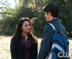 """""""Know Thy Enemy"""" - Kat Graham as Bonnie and Steven R. McQueen as Jeremy Gilbert in THE VAMPIRE DIARIES on The CW.  Photo: Annette Brown/The CW  �2011 The CW Network, LLC. All Rights Reserved.pn"""