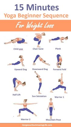 Use this 15 minutes weight loss yoga beginner poses to tone your body, improve f. Use this 15 minutes weight loss yoga beginner poses to tone your body, improve flexibility, reduce Yoga Poses For Two, Easy Yoga Poses, Beginner Yoga Poses, Restorative Yoga Poses, Yoga Inspiration, Fitness Inspiration, Yoga Fitness, Kids Fitness, Health Fitness