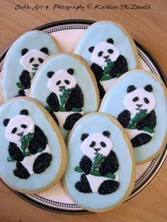 Panda cookies!!! :D wish I could make this
