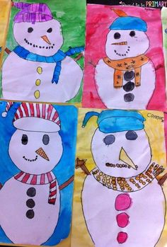 ... friend snowman directed drawing art activity by Proud to be Primary