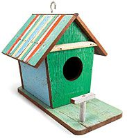 Thailand -- Show birds—and trees—some love with this handmade, reclaimed-wood birdhouse. It's made from planks that skilled Thai artisans salvaged from defunct boats and buildings (many downed by the region's 2004 tsunami), so no two are identical. $45, bambeco.com