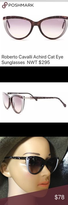 Roberto Cavalli Sz 55/18/140 Achird Multi/Colored Cat Eye Sunglasses. These are customer returns excellent condition minor scratches, comes with cool carrying case Roberto Cavalli Accessories Sunglasses
