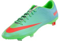 Nike Mercurial Vapor IX FG Soccer Cleats - Neo Lime with Polarized Blue...Available on SoccerPro Right Now!