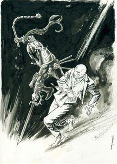 Moon Knight vs Black Spectre by Declan Shalvey