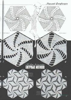 Photo from album Crochet Diagram, Crochet Chart, Filet Crochet, Crochet Motif, Diy Crochet, Crochet Flowers, Crochet Stitches Patterns, Thread Crochet, Animal Sewing Patterns