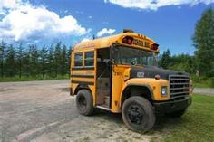 The really short bus...I want one! Would be a cool hot rod project or really short motorhome.