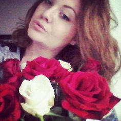 Flowers in my life. Red snd white rose