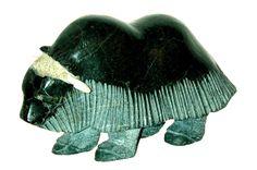 Soapstone Carving by Simeonie Killiktee Wood Stone, Stone Art, Artic Animals, Soapstone Carving, Sculpture Lessons, Inuit Art, Stone Sculpture, Aboriginal Art, Native Art