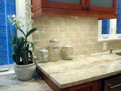 Lush 3x6 Almond Beige Glass Subway Tile Flats Subway