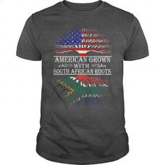AMERICAN grown South African roots - #cool shirts #plain t shirts. BUY NOW => https://www.sunfrog.com/LifeStyle/AMERICAN-grown-South-African-roots-Dark-Grey-Guys.html?60505
