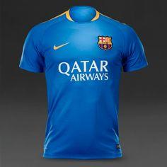 5bbb16e8961 Nike FC Barcelona Flash S S Top - Light Photo Blue University Gold