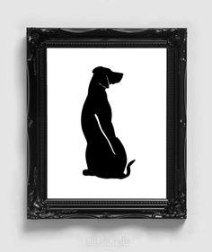 Rhodesian Ridgeback Silhouette Handcut by silhouetteMYpet on Etsy, $18.00