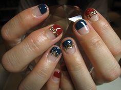 ボルドー×ネイビー☆ジェルの画像 | Jammin*Power of nail.