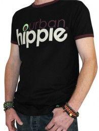 Black Ringer Cotton Crew T-shirt