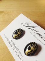 t h e A e s t h e t i k ~ contemporary women's designer clothing EARRINGS :: GILDED PEACOCK GLASS EARRINGS