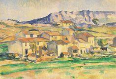 Paul Cézanne - Payannet et la Sainte-Victoire. Environs de Gardanne, 1885-1886. Huile sur toile, 63 x 91,5 cm. Courtesy of the White House Historical Association.