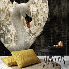 Royal Wings', a stunning Mural with wealthy elements and brilliant details. This wallpaper is a real statement and will turn your room into 'a lovely swan'. Extend this Mural with matching Extensions. For points of sale, visit our website: http://la-aurelia.com/pers/verkooppunten-in-nederland/ or contact us: info@la-aurelia.com ‪#‎royalwings‬ ‪#‎laaurelia‬ ‪#‎behang‬ ‪#‎mural‬ ‪#‎wallpaper‬ ‪#‎wallcovering‬ ‪#‎okergoud‬ ‪#‎okergeel‬ ‪#‎woontrend2016‬ ‪#‎maisonetobjet‬